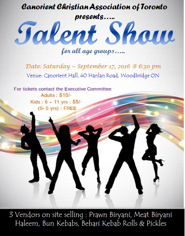 Sep17- Talent Show